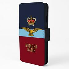 Personalised RAF Eagle & Crown Samsung Galaxy Flip Phone Case Cover RA11