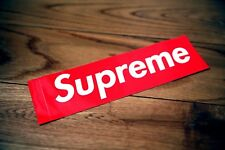 "Supreme Box Logo Sticker 7.5"" x 2.2 "" Red Sticker Vinyl Decal BOGO 1 Piece Unit"