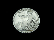 Schweiz-CH.,  2 Franken, 1862 B, Kursmünze, Silber, orig., s/ss.!
