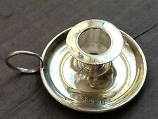 Bougeoire Miniature Doll Poupee Argent Massif XX  England Hallmark Silver Ht 3cm