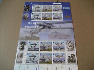 ISLE OF MAN 2003 THE HISTORY OF POWERED FLIGHT FULL SHEETS