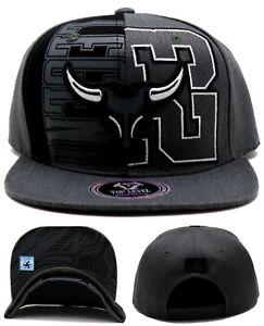 Chicago New Top Level Greatest 23 Jordan Bulls Gray Black Era Snapback Hat Cap