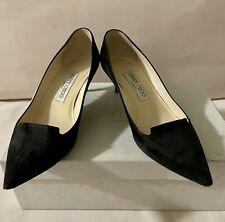 Jimmy Choo Women's Suede Leather Black Stiletto Pump Shoe Size 36