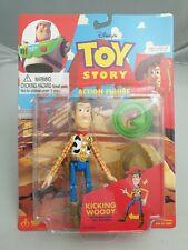 Vintage Disney's Toy Story Kicking Leg Woody Action-Figur Thinkway Toys Moc Ovp