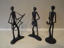 Bronze  Handmade Musicians Set of 3 Ten Thousand Villages