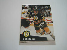 1991/92 PRO SET HOCKEY BOB BEERS CARD #520***BOSTON BRUINS***