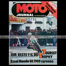 MOTO JOURNAL N°464 FOURNALES HONDA GL 1000 K1 & 1100 GOLD WING VESPA PX 80 '80