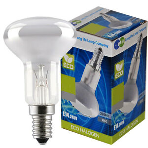R50 Reflector Halogen Energy Saving Light Bulb Dimmable E14 - 28w or 42w