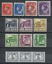 Japanese Occ Sumatra 13 Anchor ovpt stamps Mlh/Canc Vf