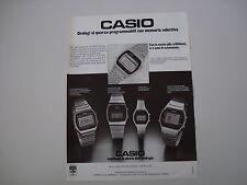 advertising Pubblicità 1979 OROLOGIO CASIO CHRONOGRAPH/SLIM/LADY/CALENDAR ALARM