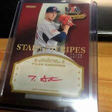 2013 USA Champions # TYL  TYLER ANDERSON Red Autograph Auto # 12/25 Rockies