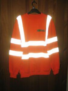 LEO Hi Viz SWEATSHIRT JUMPER High Visibility Work Wear Safety - Size Medium*