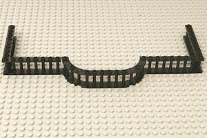 Lego Black 9 Spindled Fence And 2 Quarter Round / City Home Building Parts Lot