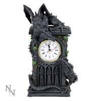 DUELLING DRAGONS MANTLE CLOCK GOTHIC MYTHICAL 24cm NEMESIS NOW