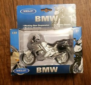 Welly BMW Scale 1:18 Replica Motorcycle Plastic Working Rear Suspension