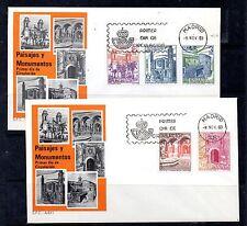 España Paisajes y Monumentos serie en sobres primer día del año 1983 (CY-690)