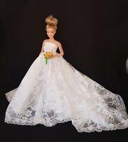 New curvy fashion doll White Lace Wedding Dress For Your Curvy  Barbie