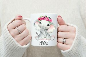 Personalised Elephant Mug, 11oz Mug, tea, coffee, gifts for everyone, Cup