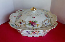 """Kongo ROMANCE  Square Covered Bowl  10 1/2""""  Dresden Floral"""
