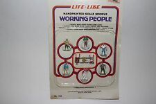 Life Like HO Figures for Train Layout, Working People, Handpainted Scale Models
