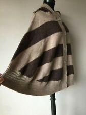 Elena Solano Damen Poncho mit Kapuze gr.S 100 % Wolle