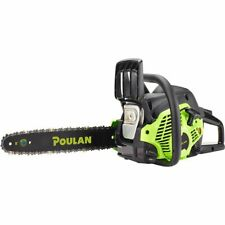"Poulan 14"" Steel Bar 33CC Gas Chain Saw 2 Cycle 
