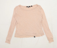 Superdry Womens Size S Cotton Blend Pink Top (Regular)