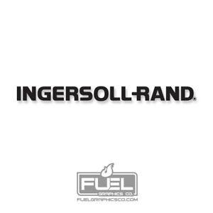 "INGERSOLL RAND Compressor Premium Vinyl Decal - 39"" Wide x 3.36"" tall - Black"