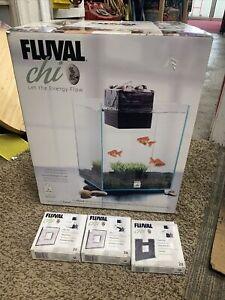 Fluval Chi 19L Nano Aquarium Set 19L Hagen Small Cyclinder Shape
