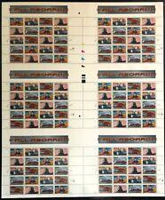 33c All Aboard, Trains, Railroad, Uncut Press Sheet MNH Scott #3333-3337