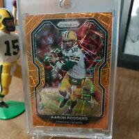 2020 Panini Prizm Aaron Rodgers Green Bay Packers Orange Lazer Prizm! MVP