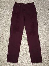 CARMAR Jeans Womens 28 X 30 Relaxed Ultra High Rise Burgundy Wash NWT
