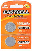 2 x CR2032 3V Lithium Batterie 210 mAh ( 1 Blistercard a 2 Batterien ) EASTCELL