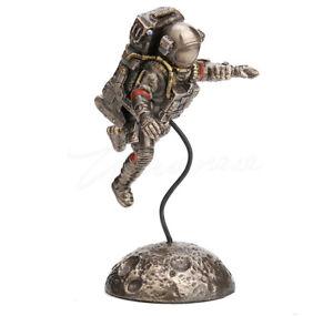 "Zero Gravity Astronaut Bronze Figurine Miniature Statue 6.25""H New"