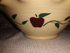 VINTAGE MILL CREEK STONEWARE PAT FLEMING Apple Design Fluted Bowl Ohio Handmade