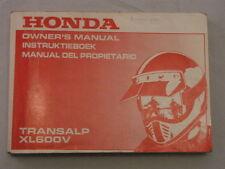 HONDA XL600V TRANSALP 1992 OWNERS MANUAL DEL PROPIETARIO INSTRUCTIEBOEK