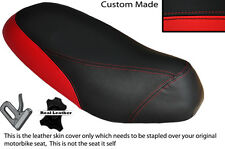 BLACK & RED CUSTOM FITS PIAGGIO SFERA 125 DUAL LEATHER SEAT COVER ONLY