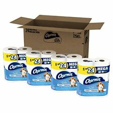 Charmin Ultra Soft Mega Roll Toilet Paper, 24 Count, New, Free Ship