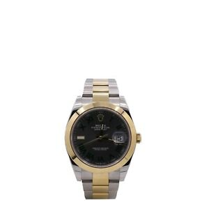 Men's Rolex Datejust 41, 18k Yellow Gold, Stainless Steel, Slate Dial, 126303