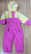 Toddler SNOW SUIT Ski Winter COMPANY KIDS STORE Sledding PINK YELLOW Zip Legs 3