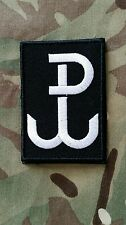 Polish ARMY patch 55x80 Warsaw fighting polska walcząca rzep