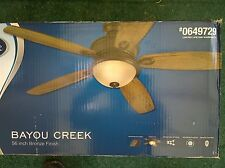 "Nib: Nice Indoor 56"" Bronze-Finish Ceiling Fan + Light w/ Remote Control"