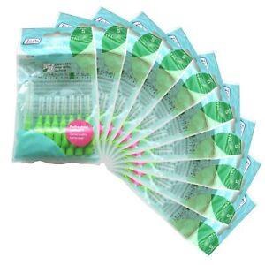 TEPE Interdental brush 0.80mm, 10 packs of 8 BRUSHES GREEN