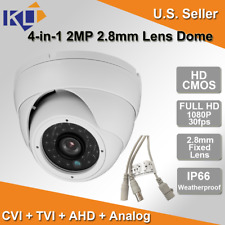 HD 4-in-1 2 Megapixel CMOS AHD/TVI/CVI/Analog  IR 2.8mm Fixed Lens Dome Camera