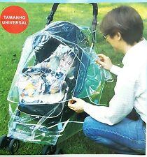 universel bébé poussette Housse de pluie Pousette Landau Transparent