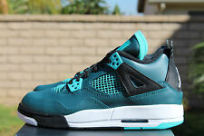 AIR JORDAN 4 RETRO IV 30TH BG GS SZ 4.5 Y TEAL WHITE BLACK 705330 330