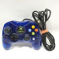 Original Microsoft Xbox Translucent Blue S Type Controller OEM Free Shipping