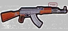 """RIFLE    AK-47  PATCH   2ND AMENDMENT  6""""  X  2"""" INCH - SEW OR IRON - FACE RIGHT"""