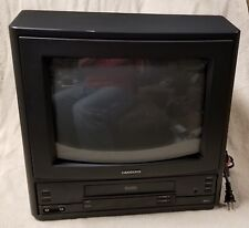 "SAMSUNG 13"" CRT TV VCR COMBO CXA1316B VHS Tape Player Gaming Color Television"