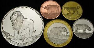 SOMALI REPUBLIC 5 Shillings / 100 Shillings 2013 - Lot of 5 Coins - UNC *
